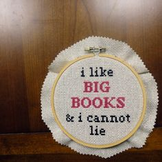 for @Kathy Lynch (for books AND Cross Stitch AND that hilarious Pin you pinned earlier)  @Christine Rice