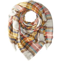 Hat Attack Plaid Blanket Scarf (Autumn) Scarves (420 ZAR) ❤ liked on Polyvore featuring accessories, scarves, brown, plaid shawl, tartan scarves, tartan blanket scarf, brown scarves and tartan shawl