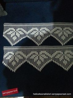 This Pin was discovered by Büş Crochet Boarders, Crochet Lace Edging, Filet Crochet, Thread Crochet, Irish Crochet, Crochet Patterns, Yarn Crafts, Diy And Crafts, Crochet Curtains