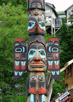 Ketchikan, Alaska... The totem poles were breathtaking as were the stories that went with them