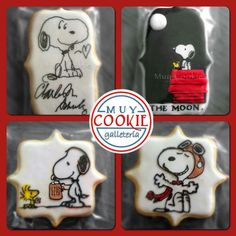 Snoopy royal icing cookies