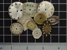 Mixed Lot of 10 Vintage round and Square by SteampunkArtSupplies