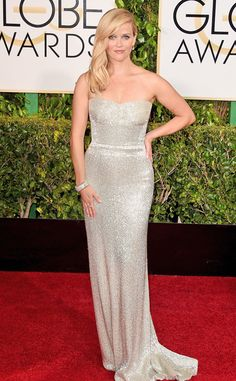 2015 Golden Globes Red Carpet Arrivals Reese Witherspoon, Golden Globes