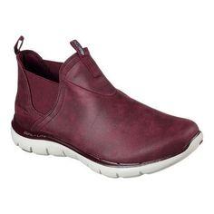 556ae43b161941 Women s Skechers Flex Appeal 2.0 Done Deal Sneaker Boot Burgundy