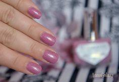 """Anna Galaxy: El Corazon. Лак для ногтей серии Active Bio-gel Color gel polish """"Dalmatian"""" № 423/90 loved smoothie"""