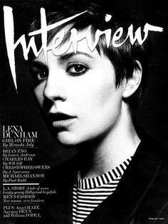 Lena Dunham for Interview Magazine February 2013 shot by Greg Harris