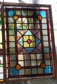 Stained Glass Cookies, Stained Glass Door, Stained Glass Designs, Stained Glass Patterns, Leaded Glass, Mosaic Patterns, Glass Doors, Victorian Front Doors, Antique Doors