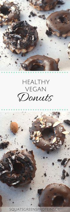 Gesunde Donuts selber machen - aus dem Backofen - Healthy Donuts - Vegan Recipe Oven Baking Delicious - Squats, Greens & Proteins