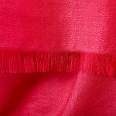 """Pure Katan Cashmere Shawl. Cashmere Wrap shown in Pink and Twill weave with 1"""" Open Fringe."""