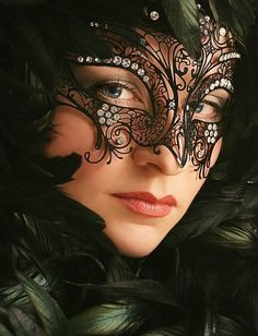 Beautiful masked bbw