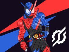 Kamen Rider Build Pixel Art by @sbdesignworks