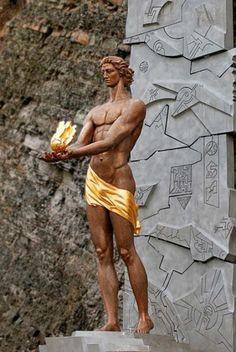 Statue of Amirani in Borjomi