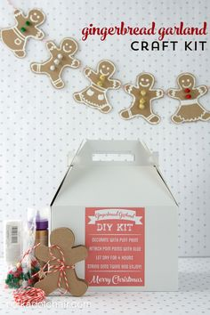 Gingerbread Garland Craft Kit DIY