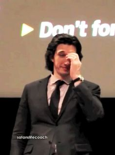 Adam Driver trying to explain to the audience why he doesn't watch his own movies, the first one says it all!!