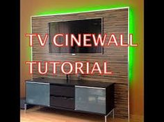 Cinewall selber bauen  LED TV Wand selber bauen, Cinewall do it yourself | Möbel DIY ...