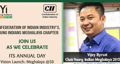 CII plan to develop Meghalaya by 2022:  Seeking an inclusive and developed state by 2022, the Confederation of Indian Industry's Young Indians (Yi) on Wednesday unveiled the vision document Meghalaya@50.  Know More<> http://www.bizbilla.com/pressrelease/CII-plan-to-develop-Meghalaya-by-2022-1099.html  #Bizbilla #CII #Meghalaya