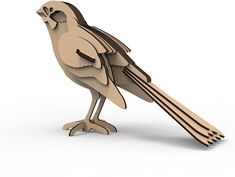 puzzle - sparrow Digital design, design for laser CNC and CNC milling. Laser Cutter Ideas, Laser Cutter Projects, Cardboard Sculpture, Cardboard Crafts, Cardboard Animals, Bird Sculpture, Paper Crafts, 3d Puzzel, 3d Templates