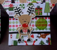 Christmas Themed Blank Cards 3x3 (8) by PeculiarParchment on Etsy