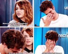 The Amazing Spider-Man 2 interview : Emma Stone, Andrew Garfield, and Jamie Foxx