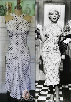 """Marilyn Monroe white polka-dot dress from """"The Seven Year Itch"""" by Morningstar84, $210.00, available on Etsy."""