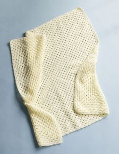 Purely Square Baby Throw-My favorite quick and easy baby blankie for new mommies!