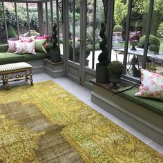 Handmade Vintage Bayat Rug from The Handmade Rug Company - A beautiful antique carpet that is put through a long cycle of dying and washing to create this beautiful, ethereal look. Rug Company, Beautiful Interiors, Ethereal, Carpet, Rugs, Antiques, Create, Gallery, Handmade