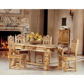 Sudbury Hand-Carved Solid Pine Gothic Side Chair - AF1664 - Design Toscano