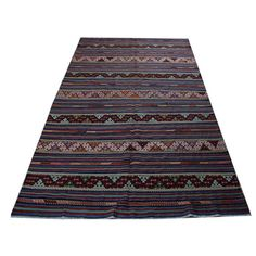 Best Area Rug Tribal Kilim Beautiful Zigzag Rugs for Living Rooms Rugs On Sale Cicim Handwoven Kilim Rugs Aztec Style Carpet Rug - R4102