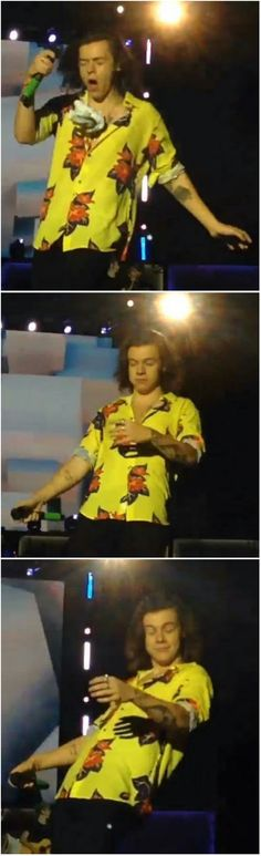 The way Harry Styles ❥ reacts when people throw things at him