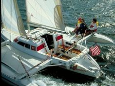 Dragonfly 800 trimaran, fantastic sport sailing