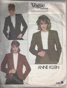Vogue American Designer Anne Klein Jacket Sewing by Buyfoxy, $26.00