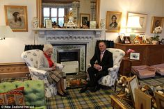 At home with Her Majesty: Queen Elizabeth II entertains New Zealand Prime Minister John Key in her Balmoral living room