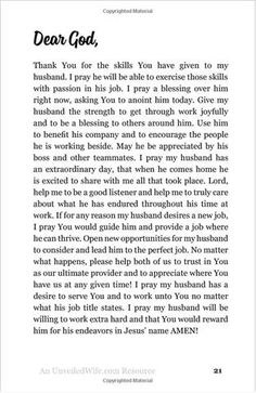 Thirty-One Prayers For My Husband: Seeing God Move In His Heart - Unveiled Wife Online Book Store - 3 Prayers For My Husband, Dear Future Husband, Love My Husband, Husband Prayer, Husband Quotes, Wife Prayer, Prayer Warrior, Marriage Prayer, Marriage Advice