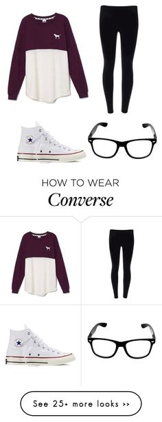 """Fall: chill day!!!"" by emmagra1 on Polyvore featuring Victoria's Secret and Converse"