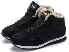 Winter Boots Men Leather Winter Shoes Men Plus Size Tennis Sneakers For Winter Ankle Boots Male Warm Lovers Casual Botas Hombre Winter Shoes For Women, Mens Winter Boots, Snow Boots Women, Ladies Boots, Mens Fashion Shoes, Fashion Boots, Sneakers Fashion, Unisex Fashion, Style Fashion