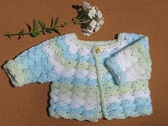 Free pattern on ravelry. Ravelry: 2 Hour Nap Free pattern by Michele DuNaier Crochet Baby Sweaters, Crochet Baby Blanket Beginner, Crochet Baby Cardigan, Crochet Baby Clothes, Baby Knitting, Crochet Bebe, Crochet For Kids, Knit Crochet, Free Crochet