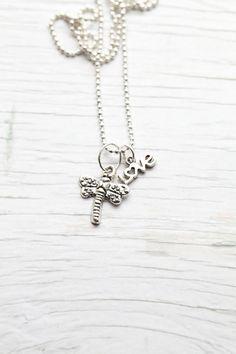 Dragonfly & love Pendant