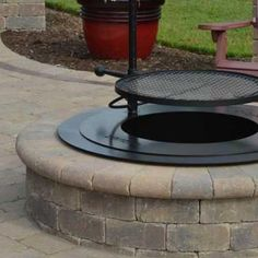 the smokeless zentro fire pit shown here featuring the accessory post the