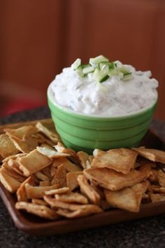 Cucumber and Feta Greek Yogurt Dip (2 cups plain Greek yogurt   1 cup crumbled feta   1/2 seedless cucumber, diced small   1/2 tsp dried oregano   1/4 tsp garlic powder   1/4 tsp onion powder  pinch salt and pepper)