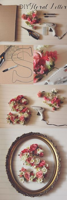 DIY Floral Letter - 35 Creative DIY Letters in Life  <3 <3