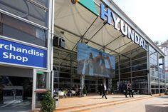 Eine große Terrasse im Eingangsbereich, das gab´s bei Hyundai.