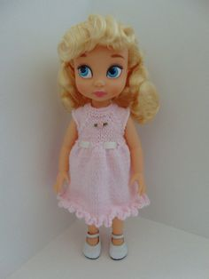 Knit Dress for 16 Disney Animator doll and by toyestinytreasures