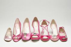 Selection of 'Pink' shoes by Paradox London! Shoes and dyeing service available at Pink Confetti