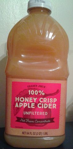 What's Good at Trader Joe's?: Trader Joe's 100% Honey Crisp Apple Cider What Is Cider, Honey Crisp, Honeycrisp Apples, Whats Good, Natural Health Remedies, Trader Joe's, Apple Crisp, Apple Cider, Allergies