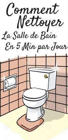 Voici les faits : nous n'avons pas toujours le temps ou l'envie (comprenez : pas que ça à faire) de passer des heures et des heures à nettoyer sa salle de bain chaque semaine. Alors, comment pouvons-nous garder notre salle de bain propre avec un minimum de temps et d'effort ? Voici la solution, vous devez utiliser la règle des cinq minutes. Cette règle fait des miracles ! La vérité c'est que vous pouvez faire beaucoup de choses... #astuces #trucs #trucsetastuces #nettoyage #maison Home Organisation, Life Organization, House Cleaning Tips, Cleaning Hacks, Cruelty Free Cleaning Products, Smart Home Design, Flylady, Paint Colors For Living Room, Minimum