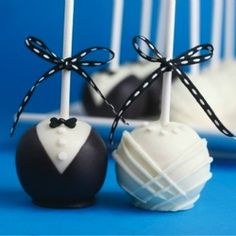We know the bride and groom look adorable together, but have you seen the cake pops?