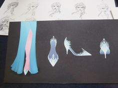 "Disney's ""Frozen"": concept art for Elsa's shoes <3"