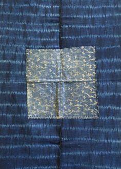 19th century Shibori and katazome mat from the superb Sri Threads blog…