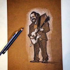Ilustrando no Cultjazz por @fabiopcorazza  terças 19:30h #hammondgrooves #organtrio @ @livraria_cultura @bourbonshopping #perdizes #saopaulo #hammond #guitarra #bateria #jazz #jazzorgan #jazztrio #livros #filmes #desenho #ilustracion #ilustration #sketch #sketchjam #guitarplayer #musician #show #literatura #musicaboaaovivo