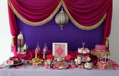 Moroccan theme Birthday Party, Event by: KisswithStyle Jasmin Party, Princess Jasmine Party, Arabian Party, Arabian Nights Party, Arabian Theme, Jasmine E Aladdin, Moroccan Theme Party, Indian Party, 30th Birthday Party Themes